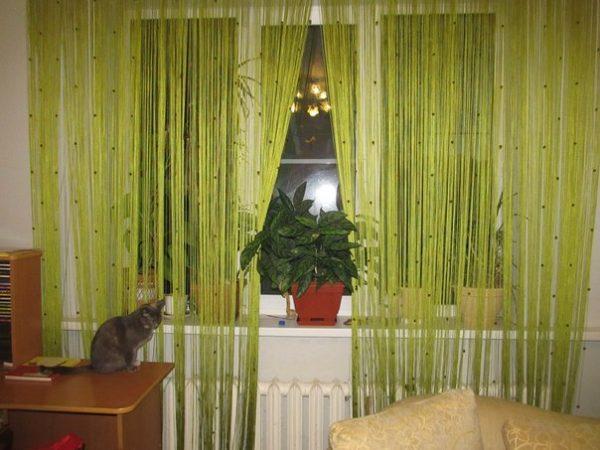 Зелёные шторы