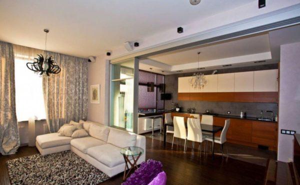 Столовая-гостиная в квартире
