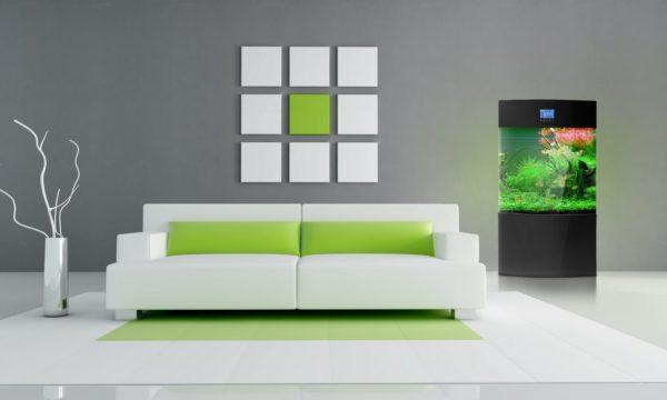 Зелёный цвет в минимализме