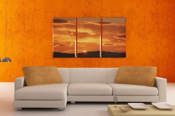 Модульная картина с изображением заката