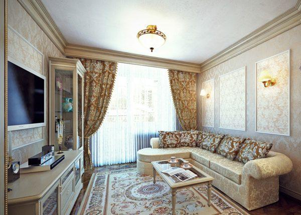Классическая мебель в зале