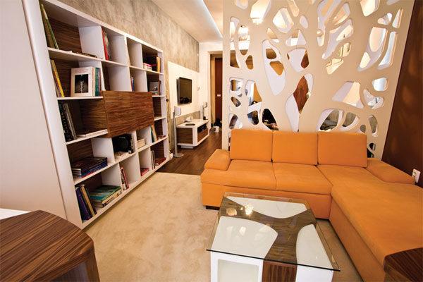 Эко-стиль в интерьере гостиной-спальни