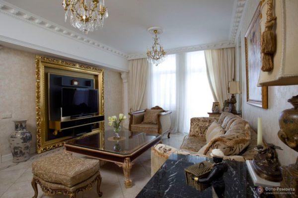 Британский стиль в гостиной