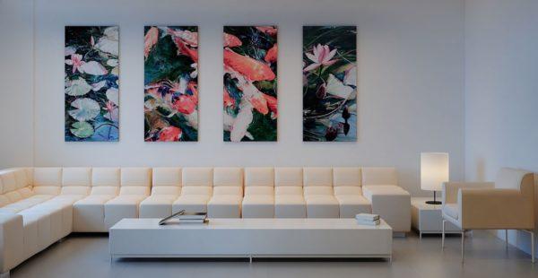 Цветы на модульной картине