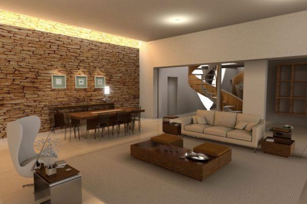 Большой зал в частном доме