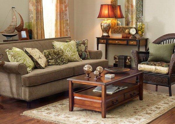 Мебель плетёная в зале фото