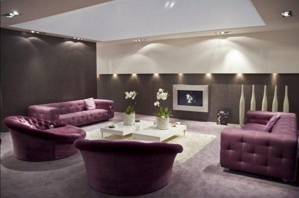 Фиолетовая мебель в интерьере