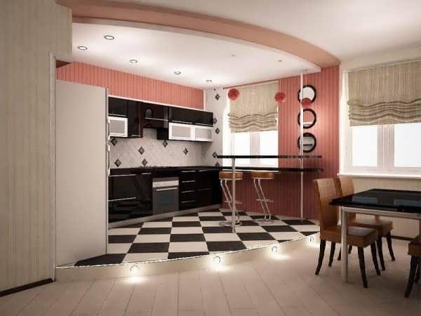 Чёрная кухня и подиум