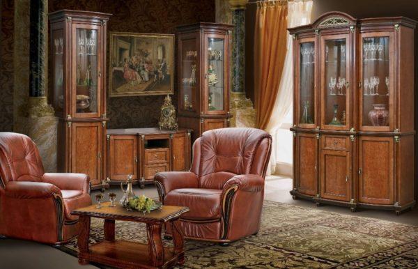 Мебель из дерева дуба