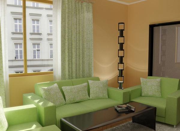 Кресла и диван в зале