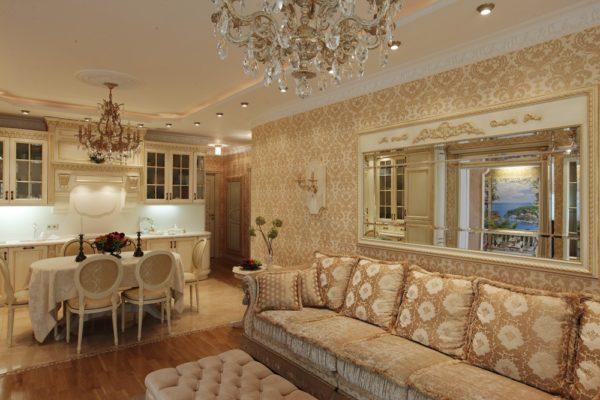 Классическая гостиная фото в частном доме
