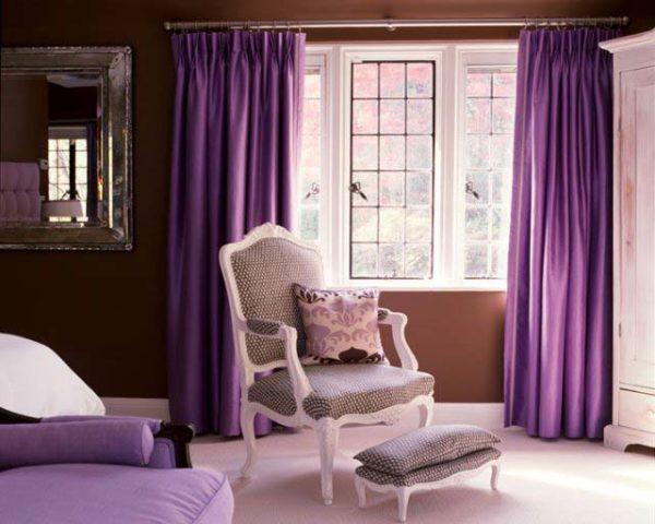 Тёмно фиолетовые шторы
