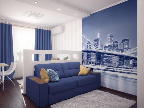 Фото синий цвет в интерьере