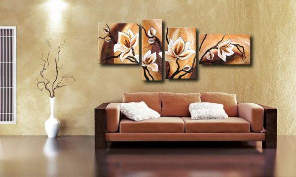 Цветы на модкльной картине