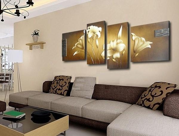 Модулная картина с лилиями