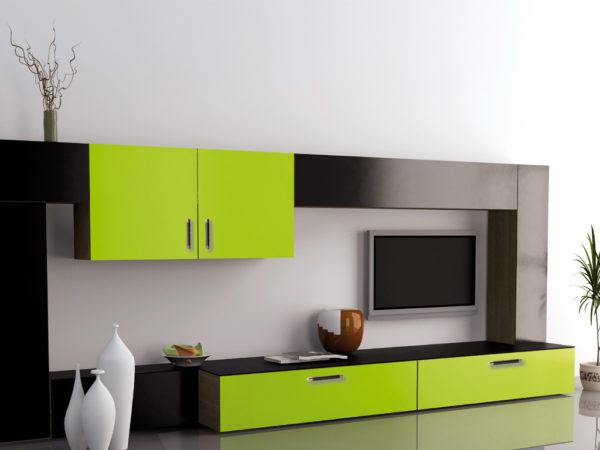 Зелёная стенка в минимализме