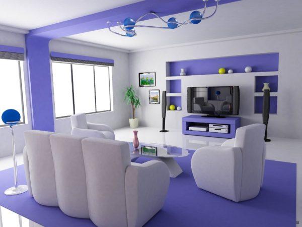Синий цвет в современном интерьере