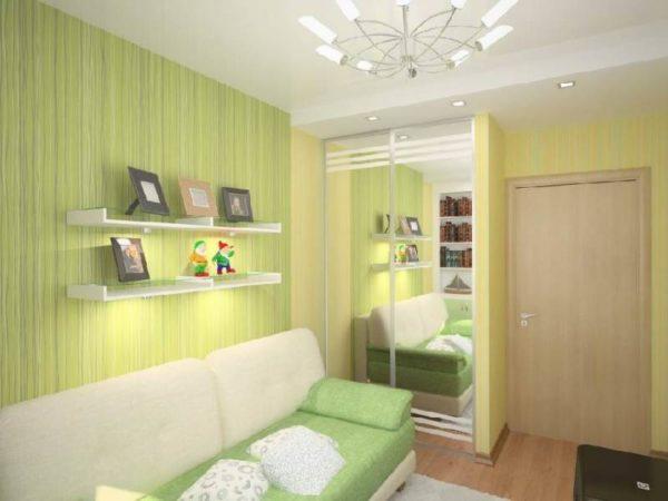 Светло-зелёный цвет в интерьере