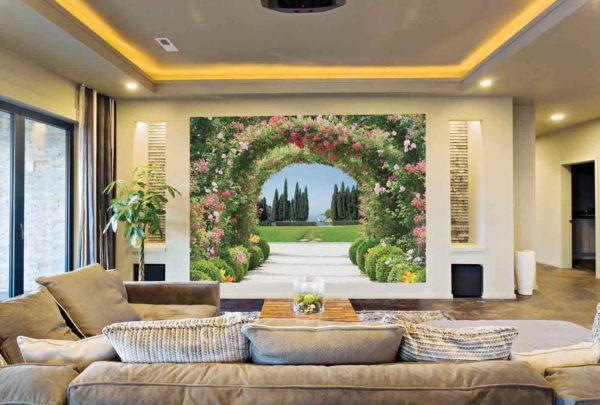 Цветочная арка в гостиной