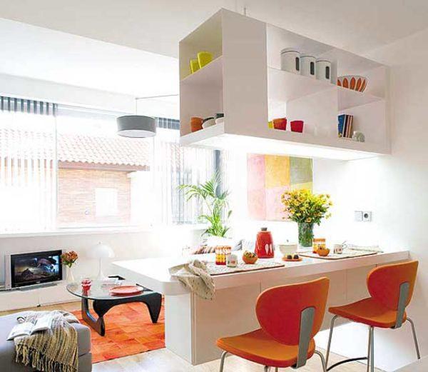 Фото маленьких кухонь-гостиных