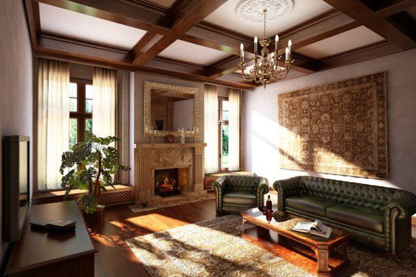 Кажаные диваны в лондонском стиле