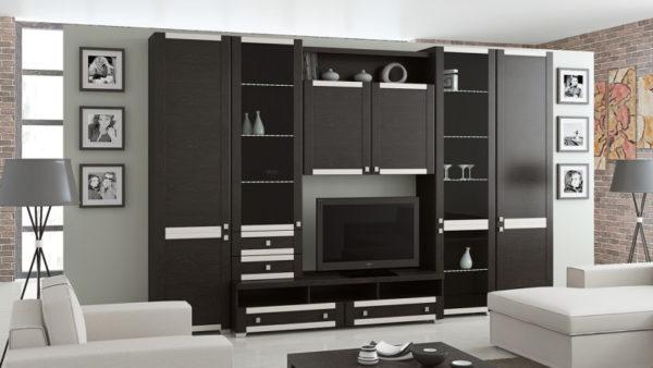 Современный стиль шкафа-стенки