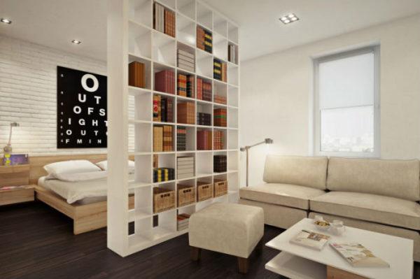 Зонирование спальни-гостиной 20 кв.м