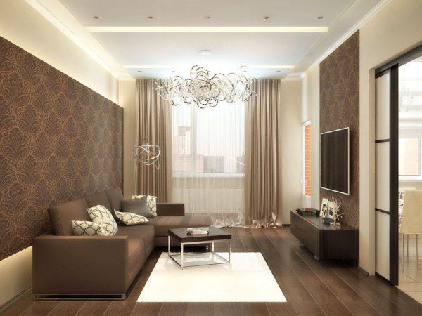 Фото коричневой гостиной