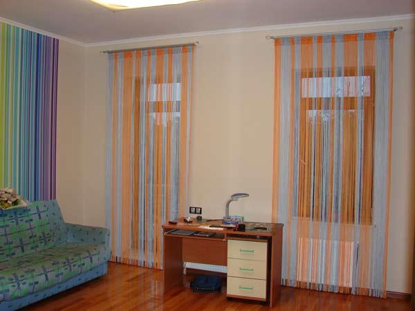 Цветные шторы-нити