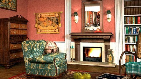 Зелёная мебель в английском стиле