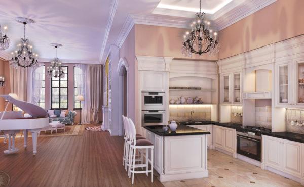 Просторная гостиная-кухня