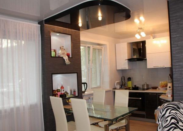 Освещение в кухни-гостиной фото