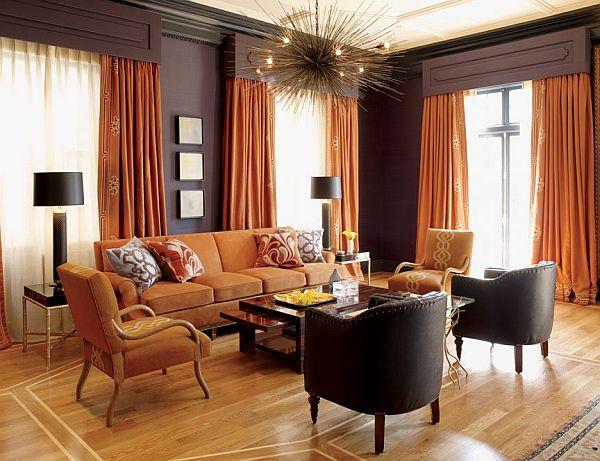 Светло-коричневый цвет в зале фото