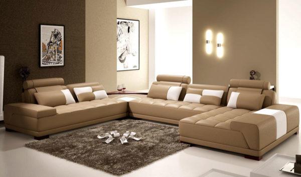 Большой диван в зале фото
