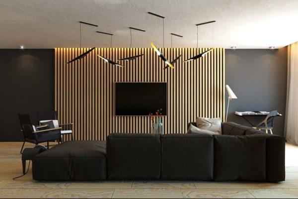 Современный дизайн в гостиной