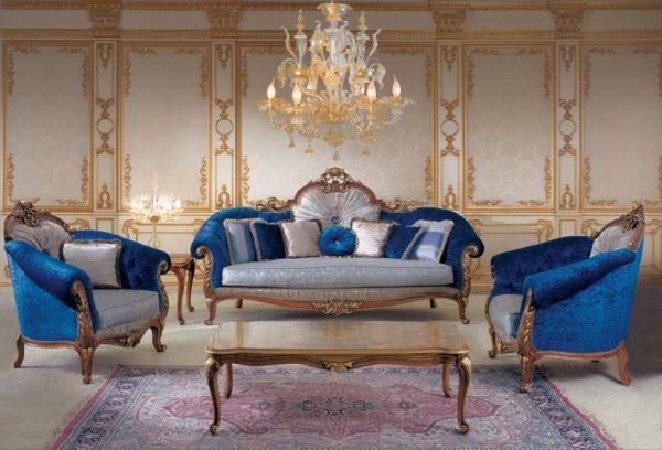 Синяя мебель фото