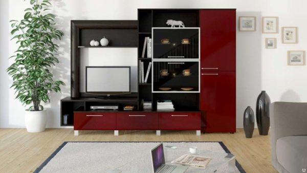Мебель в бордовом цвете